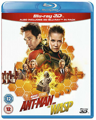 Marvel ANT-MAN AND THE WASP 3D + 2D Blu-Ray BRAND NEW