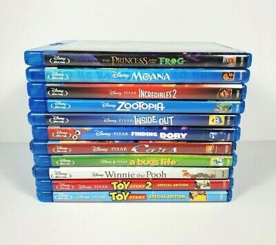 Disney Pixar Bluray lot of 11 Movies DVD Toy Story 2 Moana Cars Pooh NO DIGITAL