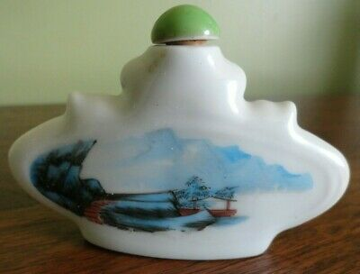 Vintage Chinese Asian Oriental Scenic Decorative Snuff Perfume Bottle