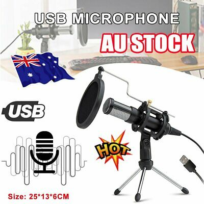 Condenser USB Microphone for Mac & Windows, YouTube, Skype and Gaming Studio AU