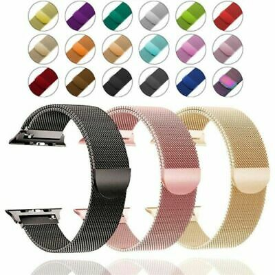 Milanese Stainless Steel iWatch Band Loop Strap For Apple Watch Series 5 4 3 2 1