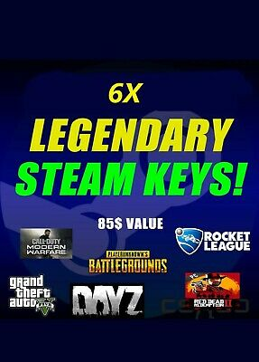 6 LEGENDARY VIP Random Steam Keys Worth + 85$ + Instant Delivery + 2 FREE GIFTS
