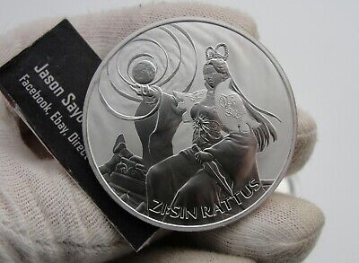 2020 South Korea ZI:SIN Series RATTUS 1 Ounce .999 Silver Mintage Of Only 22000