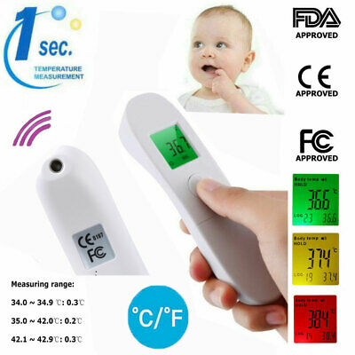 Infrared LCD Digital Forehead Thermometer Non-Contact Body Temperature Fever UK