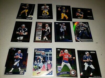 TOM BRADY 12 CARD  CHROME PANINI  Bowman NEW ENGLAND PATRIOTS GOAT