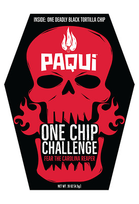 Paqui Carolina Reaper One Chip Challenge - HOTTEST CHIP ON EARTH