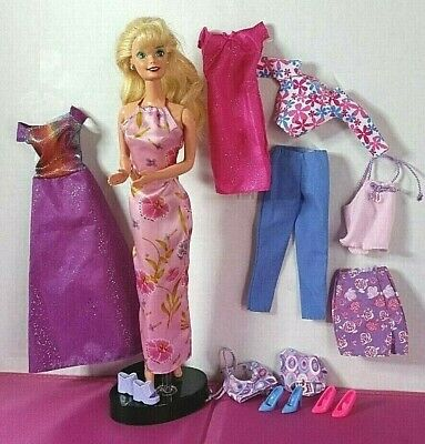 2001 Barbie - 6 FASHION GIFT PACK Outfits - Genuine Barbie Tags - Used