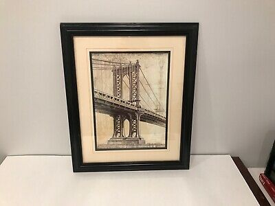 Manhattan Bridge Framed Painting