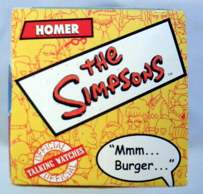 The Simpsons Burger King Talking Watch 2002 Collectible