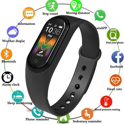M5 Smart Watch Blood Pressure Heart Rate Monitor Bracelet for iOS Android Sport