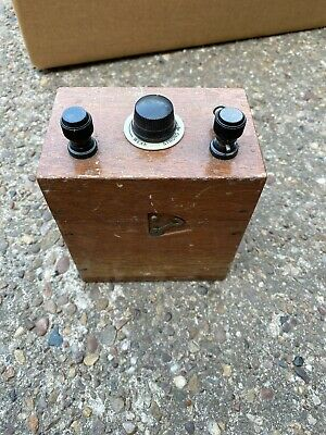 Oak Cased Medical Electric Shock Therapy Machine Device? Scientific Instrument