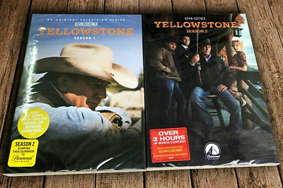 Yellowstone Season 1 & 2 (DVD, 8-Disc Set) Brand New Fast Shipping US Seller