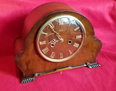 Restored 1950's Smiths 'Winterton' chime mantle clock - Mid Century Modern