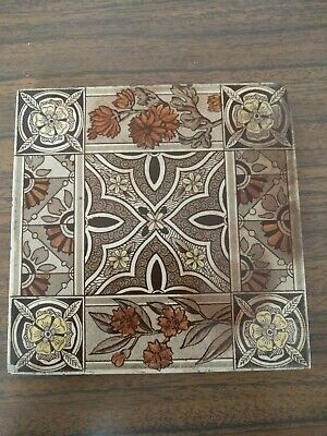 Antique Rare  And Collectable Asthetic Transfer Print Tile Circa 1880's