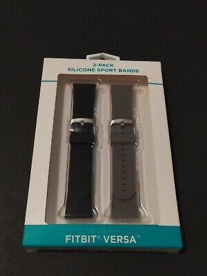 Fitbit Versa 2-Pack Silicone Sport Bands Adjustable Soft Premium Material