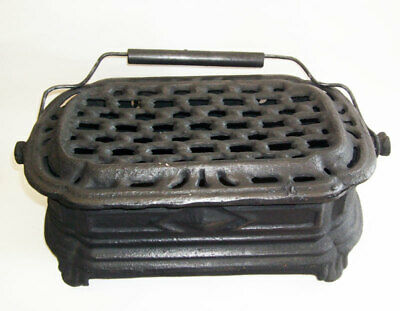 Reclaimed Antique Vintage French Cast Iron Foot Warmer or Charcoal Burner Cooker