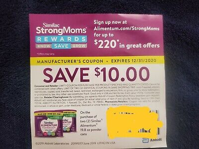 1 Save $10 on any 2 Similac Alimentum coupon