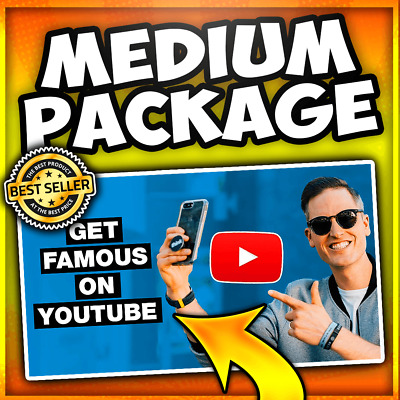 YouTube Channel Exposure - Video Traffic w/ USA Engagement (MEDIUM PACKAGE)