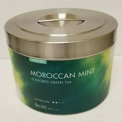 Teavana Moroccan Mint Stainless Steel Store Display 3 lb. Tea Tin (Empty)