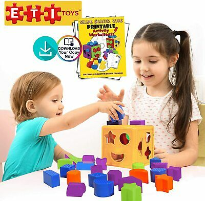 19 Piece Unique Educational Sorting & Matching Toy for Toddlers ETI Toys New