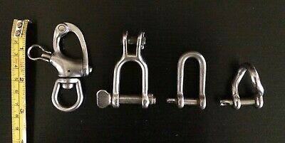 Lot of Stainless Steel Marine Boat Rigging Shackles