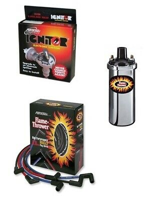 VW Aircooled Pertronix Ignitor 1 Bundle Kit - Chrome Coil With Black Leads