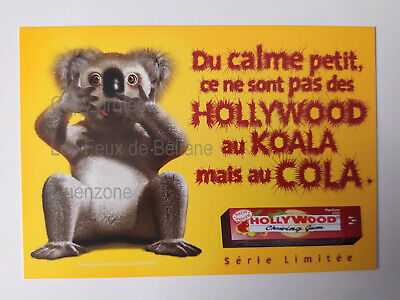 HOLLYWOOD CHEWING GUM COLA SERIE LIMITEE KOALA  carte postale