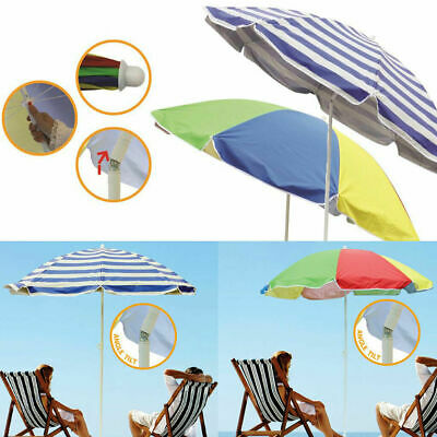 Garden Beach Patio Tilting Tilt Umbrella Parasol Sun Shade Protection UPF40 1.8M