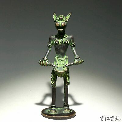 Collectable China Old Bronze Hand-Carved 12 Zodiac Dog Delicate Unique Statue