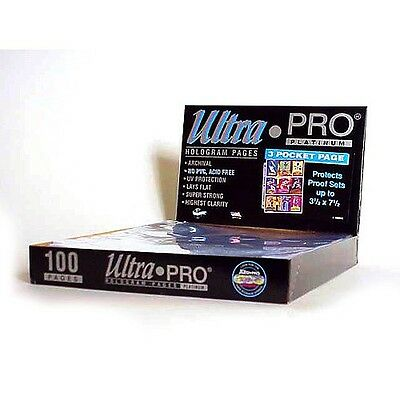 200 ULTRA PRO PLATINUM 1-POCKET Pages 8 1/2 x 11 Sheets Brand New in Box