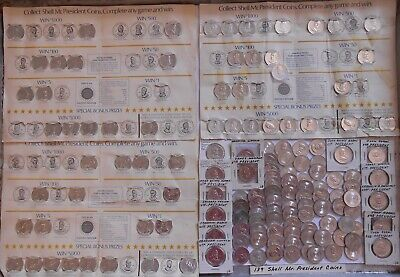 "139 Shell ""Mr. President Coin Game"" Tokens"
