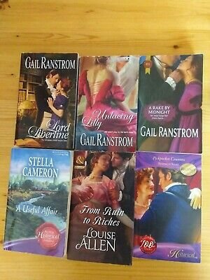 6 X Historical Romance Books Inc. 3 X O'rourke Sisters By Gail Ranstrom
