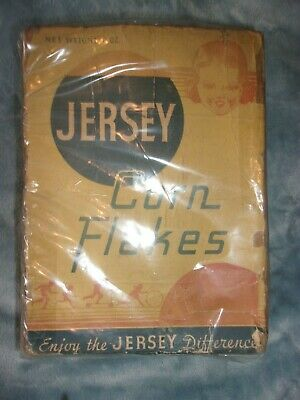 VINTAGE Jersey Corn Flakes 1939 cereal box