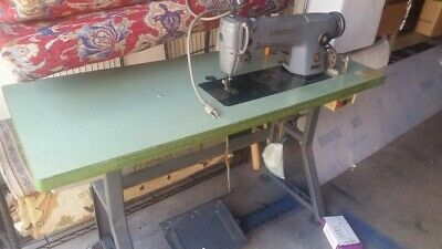 industrial sewing machine singer with the table