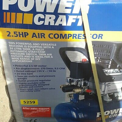 power craft 2.5 air compressor new still boxed