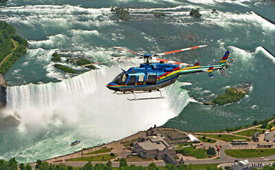 Helicopter Experience - Ride of a Life Over Niagara Falls for a Family of People