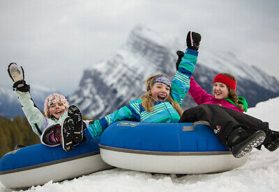 Norquay in Banff Alberta Winter Tubing Lift Tickets for Family of 4 with Rentals