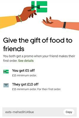 Uber Eats £10 Off Voucher Code for First Order | Voucher Code: eats-mehedih149ue