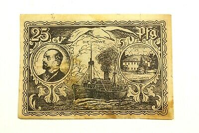 One  Germany 1921 Token Mallmitz 25 Pfennig Note In Circulated Condition