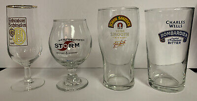 Lot Of 4 Misc Beer Glasses