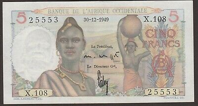 Ch UNC French West Africa P-36 / B120g  30-12-1949  5 Francs     25553