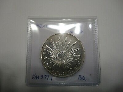 Mexico: 1894-Mo AM Silver 8 Reales KM-377.10 BU with PROOF LIKE FIELDS !