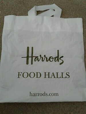 Shopping Harrods Foodhall Carrier White bag H13.25in x W13in
