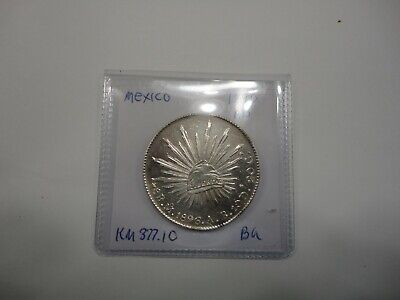 Mexico: 1896-Mo AB Silver 8 Reales KM-377.10 BU with PROOF LIKE FIELDS !