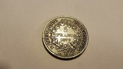 France Silver 5 Francs Coin 1873