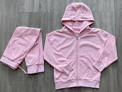 Next Girls Light Pink Matching Tracksuit Outfit Set Jumper Trousers 6-7 Y Vgc