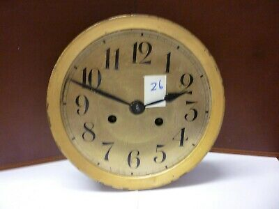 Original Art Deco Striking Wall Clock Spring Driven Movement+Dial (Z6)
