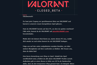 Valorant Beta Account / Key 🔑 [EU] - New - Unused - Instant Delivery ✅