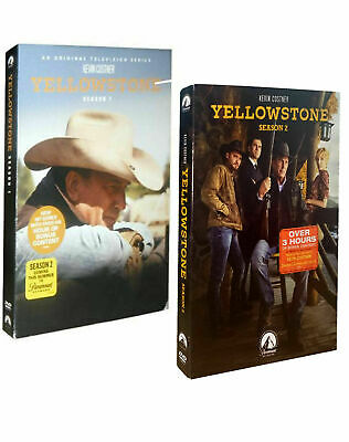 Yellowstone Season 1 & 2 (DVD, 8-Disc,Region 1 US)