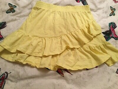 Stunning Girls Zara Skirt Lemon Yellow Age 11-12 Perfect For Spring/Summer